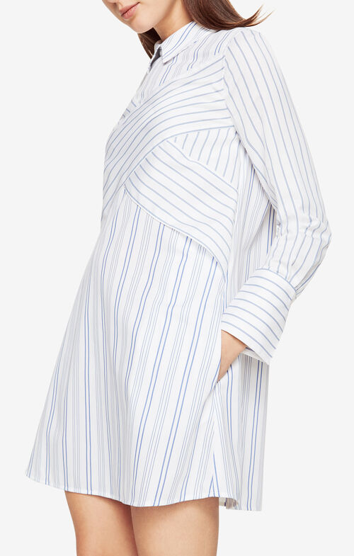 Azriel Striped Shirt Dress