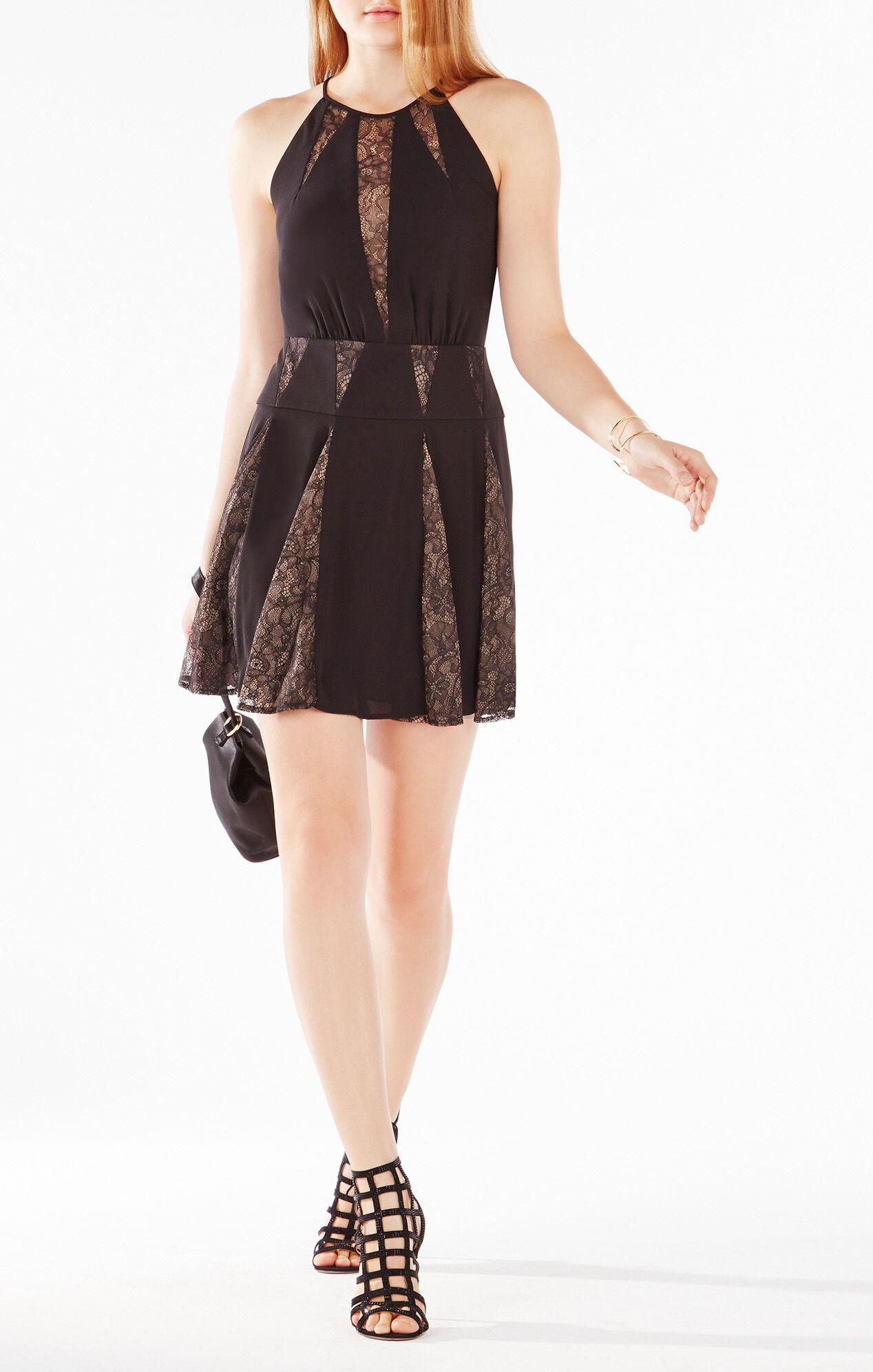Teena Lace Inserts Halter Dress