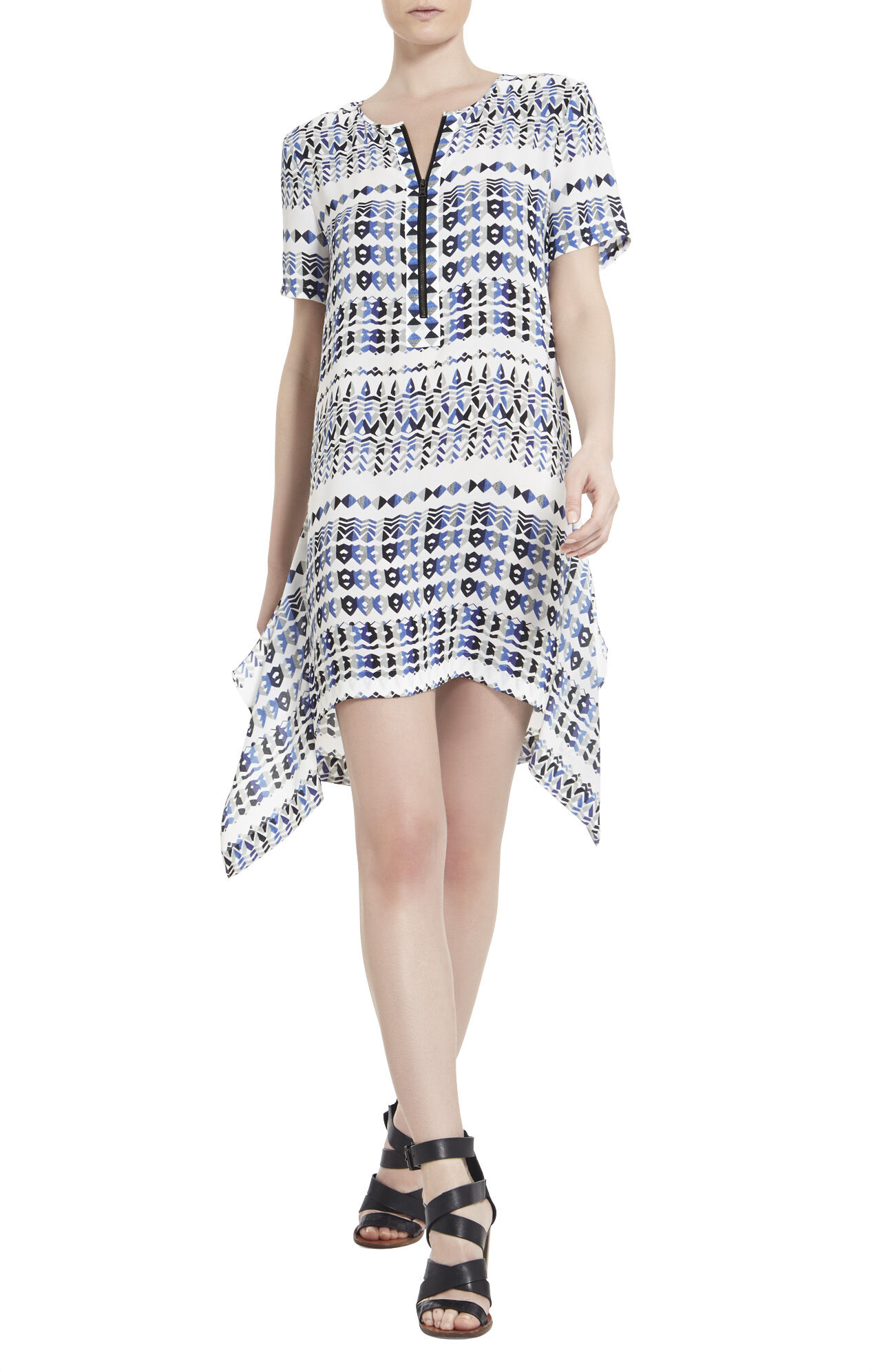 Renae Printed Short-Sleeve Dress