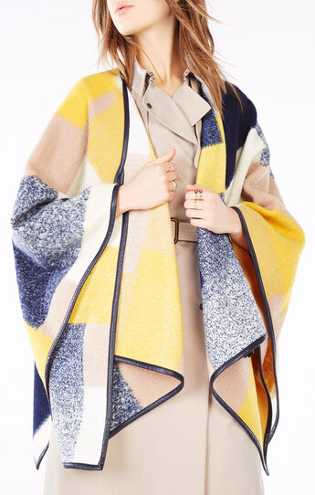 McKenzie Color-Blocked Poncho