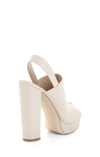 Dune High-Heel Leather Peep Toe Sandal