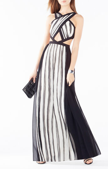 Malgosia Cutout Striped Dress