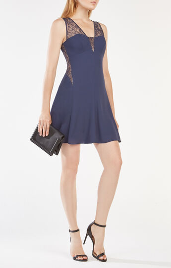 Ariele Lace-Paneled Dress