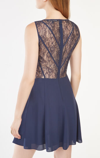 Ariele Lace-Paneled Dress