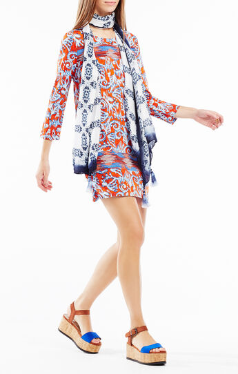 Noely Ikat Print Tunic Dress