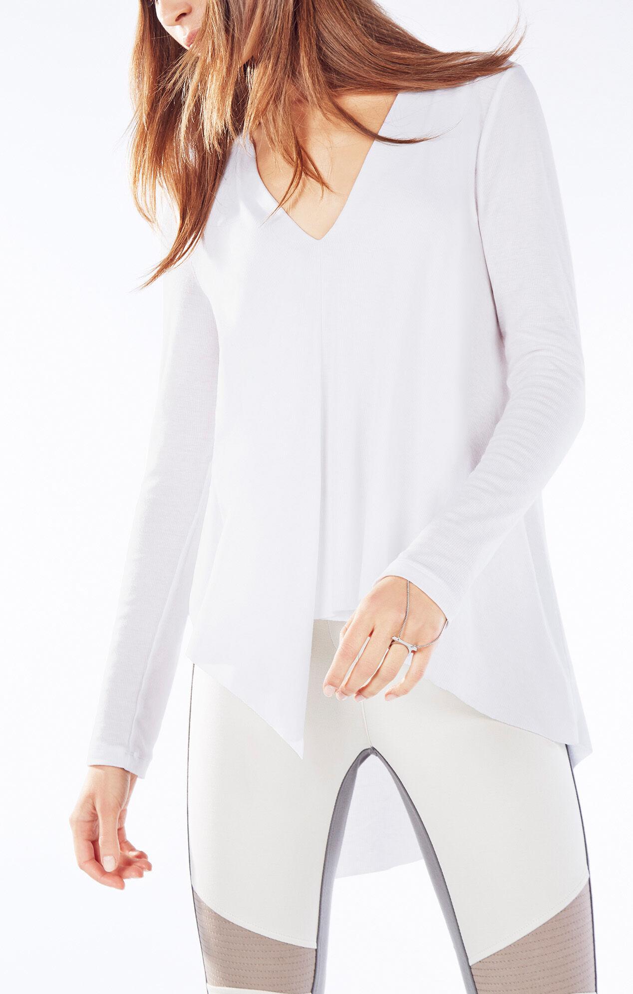 Trishna Long-Sleeve Asymmetrical Top