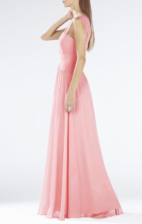 Astella Sleeveless Shirred Gown