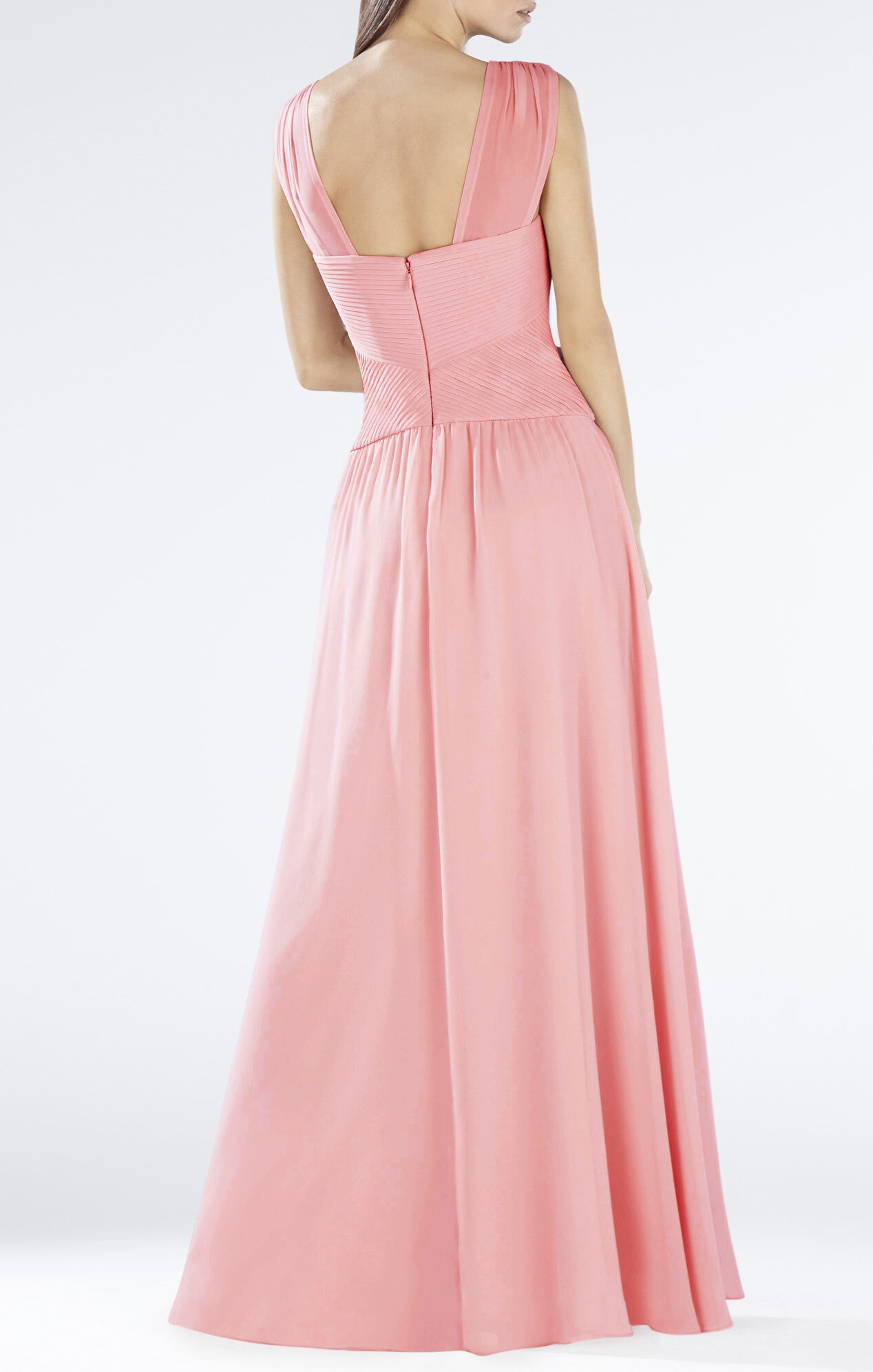 Astella Sleeveless Shirred Gown