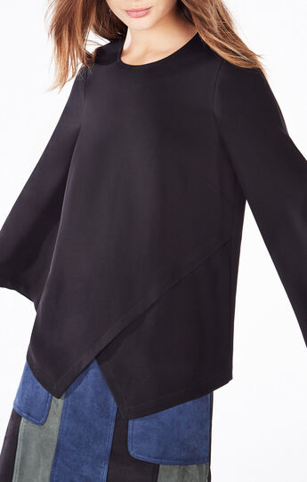Avery Bell-Sleeve Wrap Top
