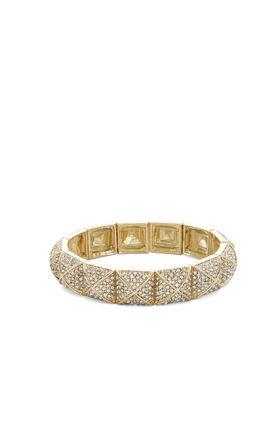 Pave Pyramid Elastic Bracelet