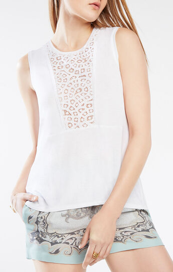 Kensey Lace-Blocked Top