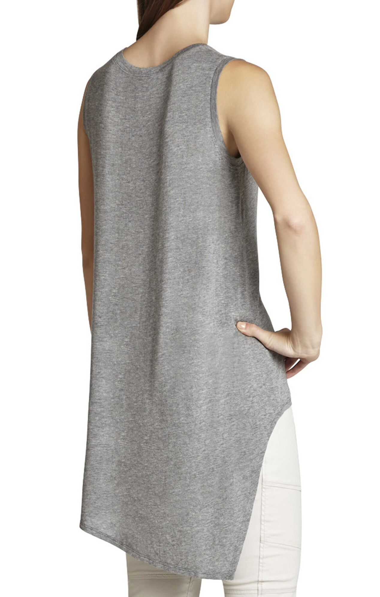 Sleeveless Asymmetrical T-Shirt
