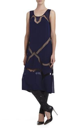 Runway Magdalena Sheer-Inset Dress