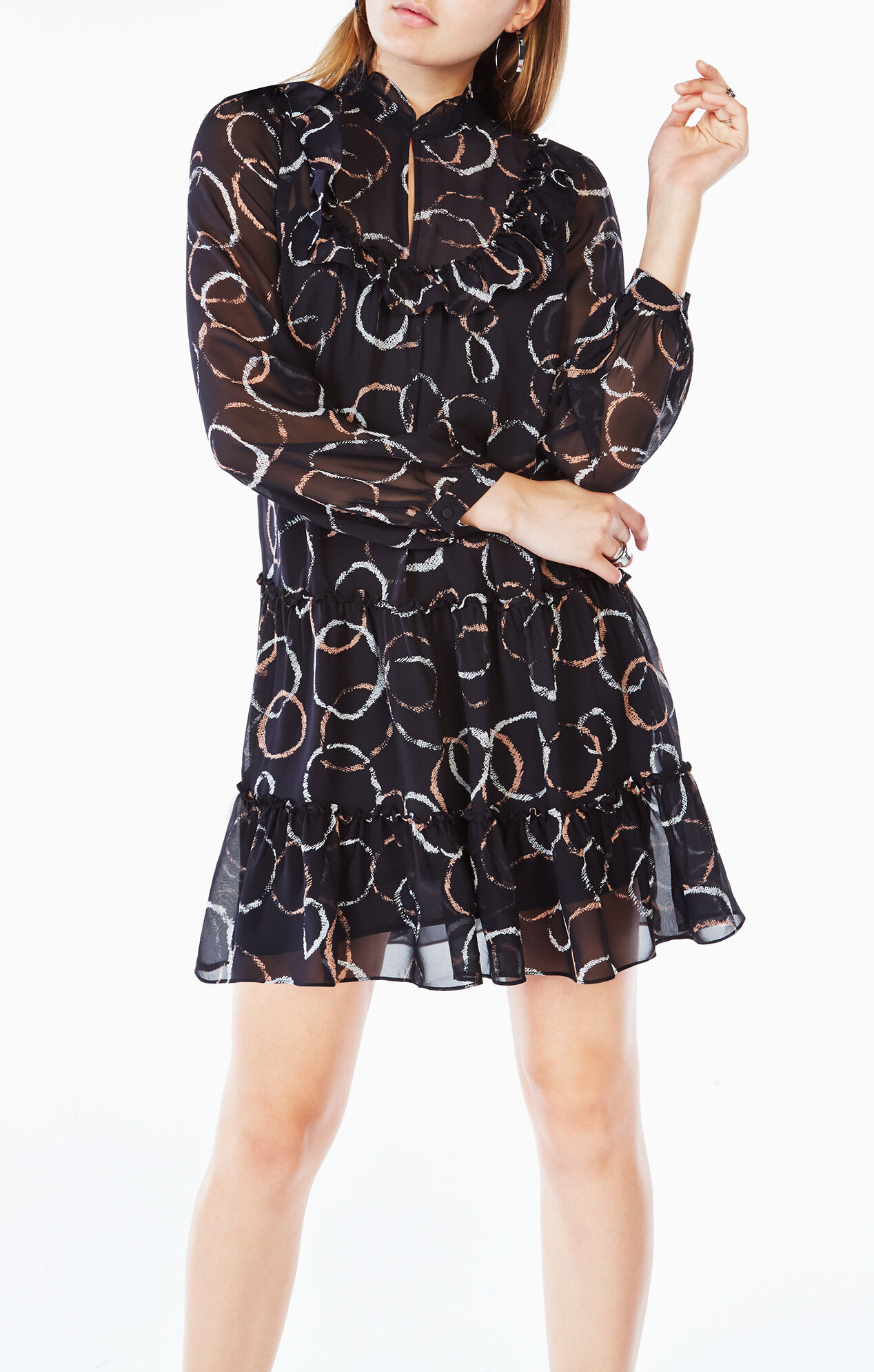Beccy Printed Silk Dress