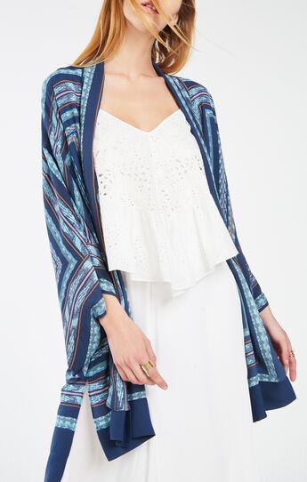 Tildie Tapestry Print Kimono Top