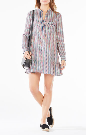 Lucile Printed Shirt Dress