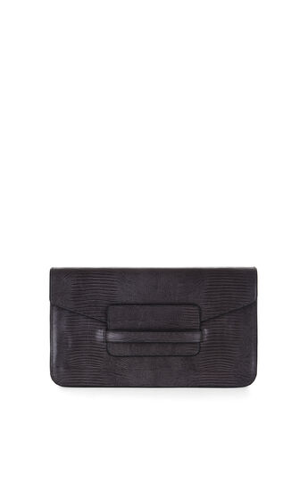 Runway Annabel Tejus Lizard-Embossed Leather Clutch