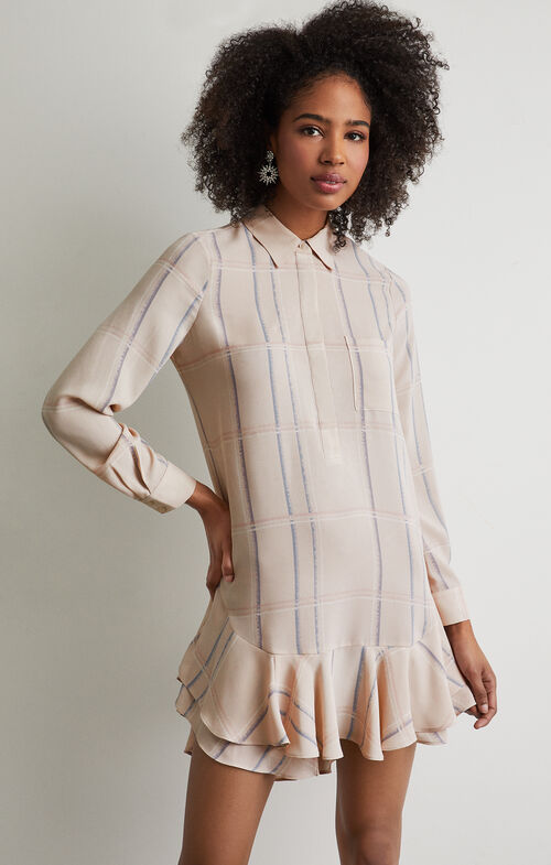 Peggy Plaid Print Dress