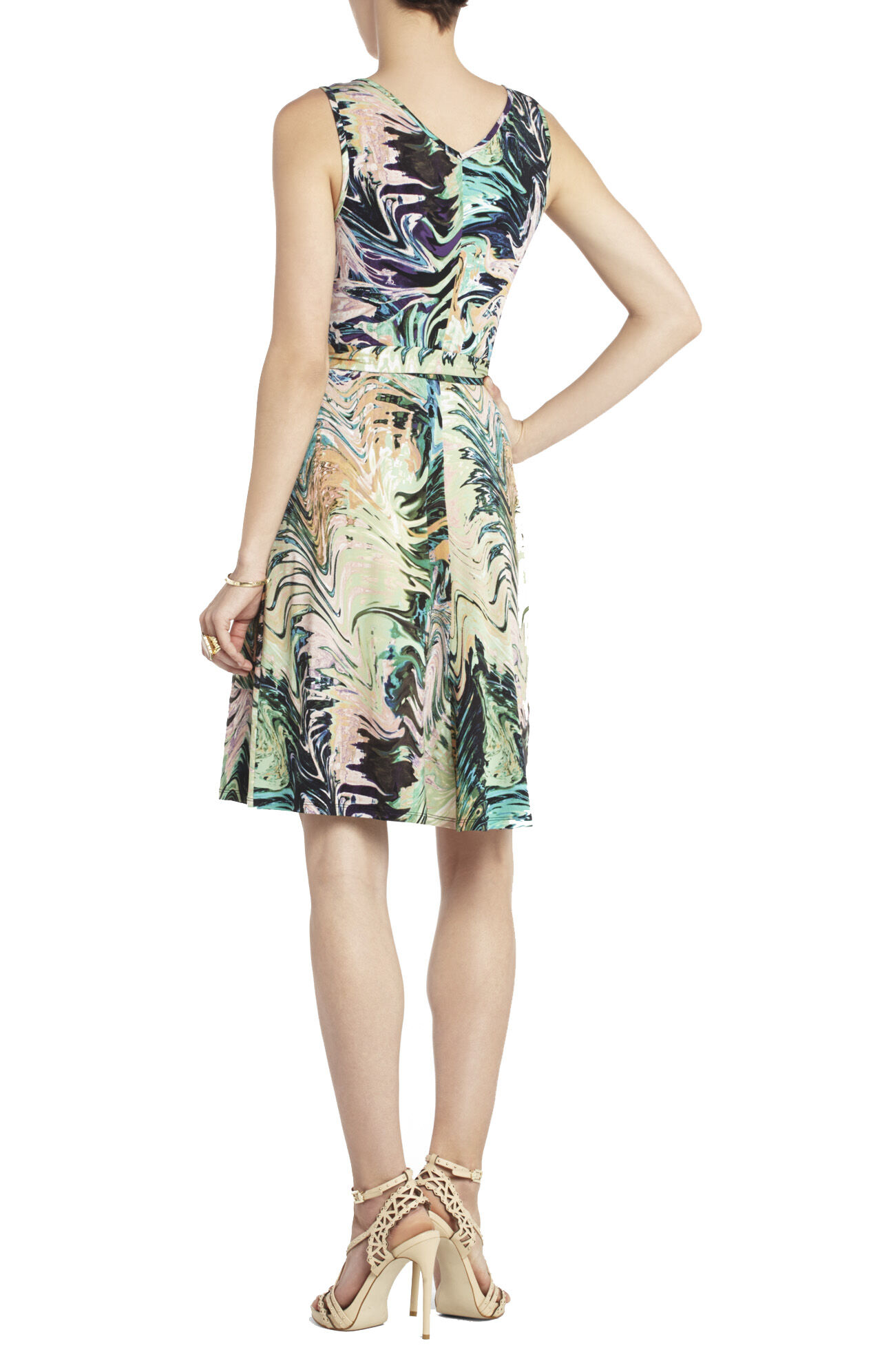 Iris Front Wrap-Tie Dress