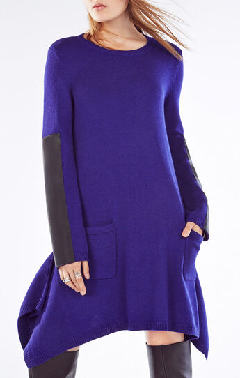 Dahnya Long-Sleeve Wool Blend Dress