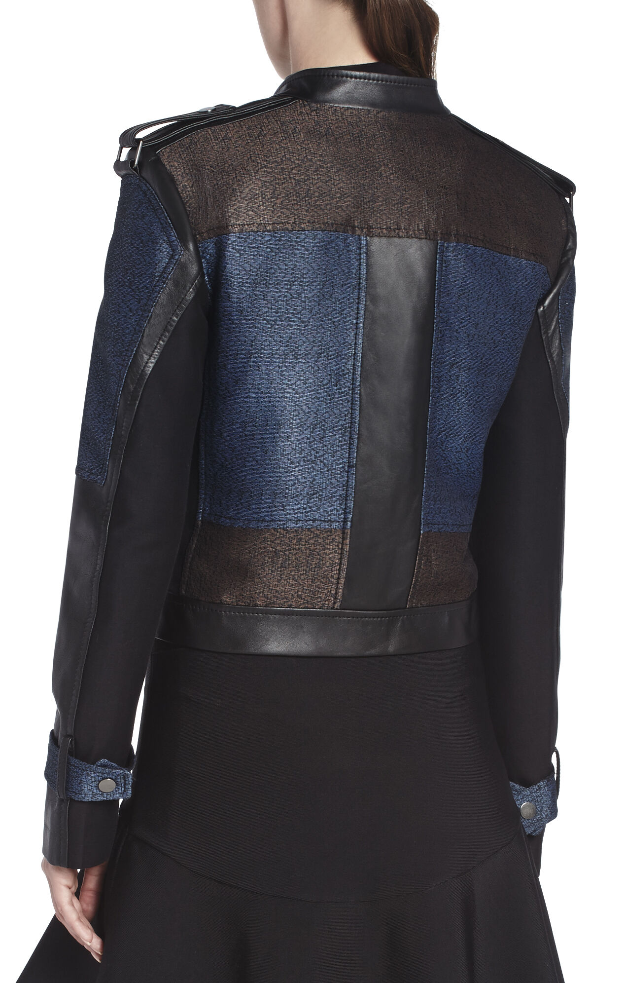 Ross Color-Blocked Moto Jacket