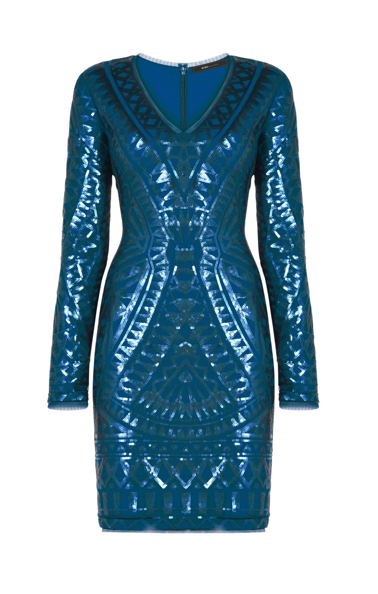 Morris Mosaic Tile Sequined Dress