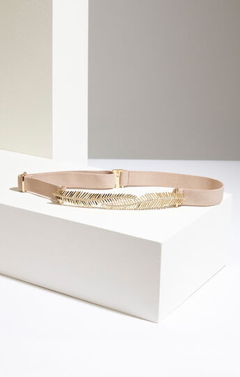 Feather Embellished Waist Belt
