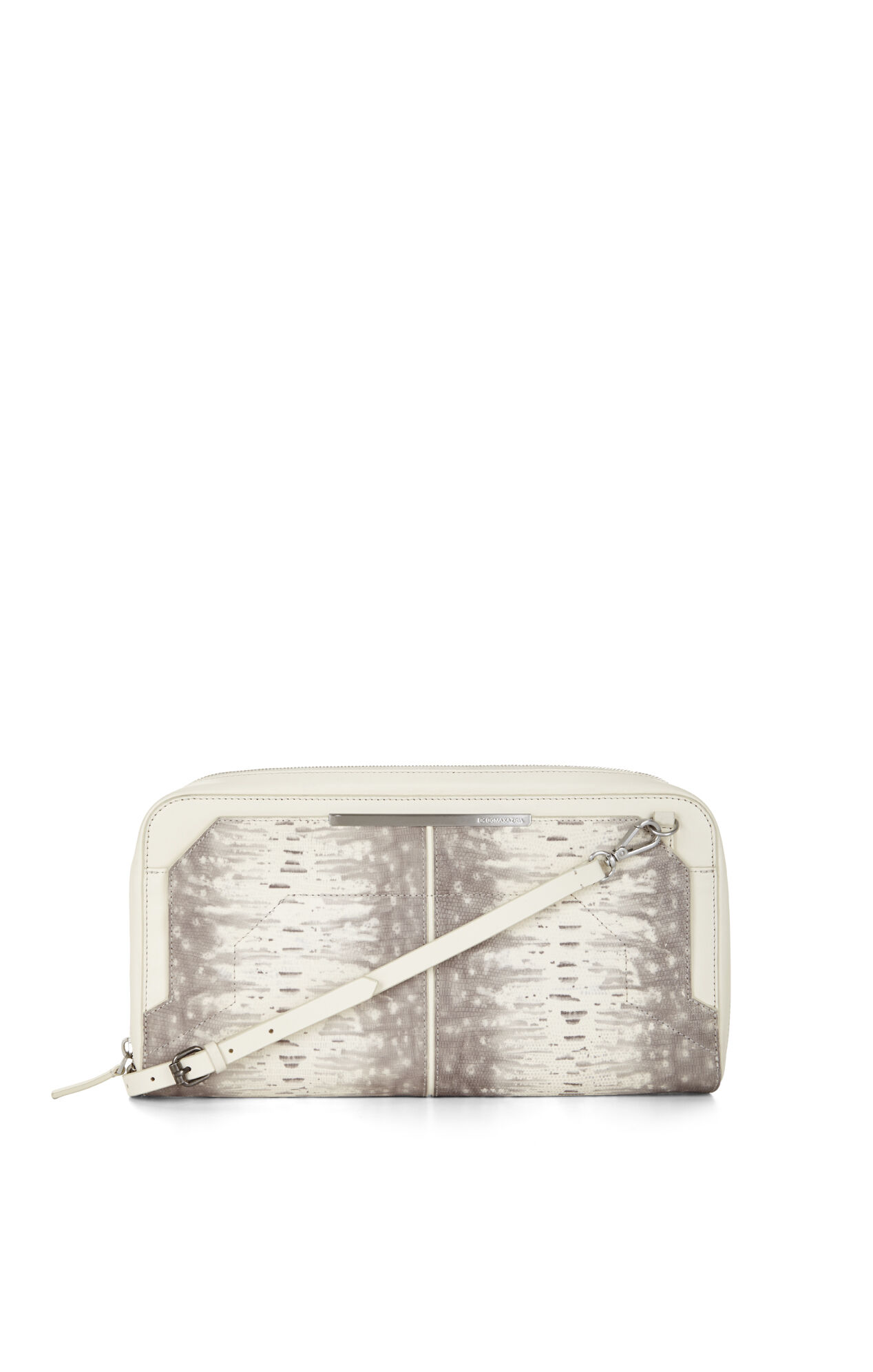 Runway Lizard-Embossed Leather Clutch