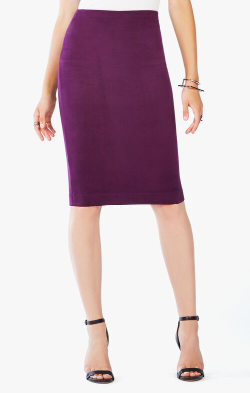 Lyric Faux Suede Pencil Skirt