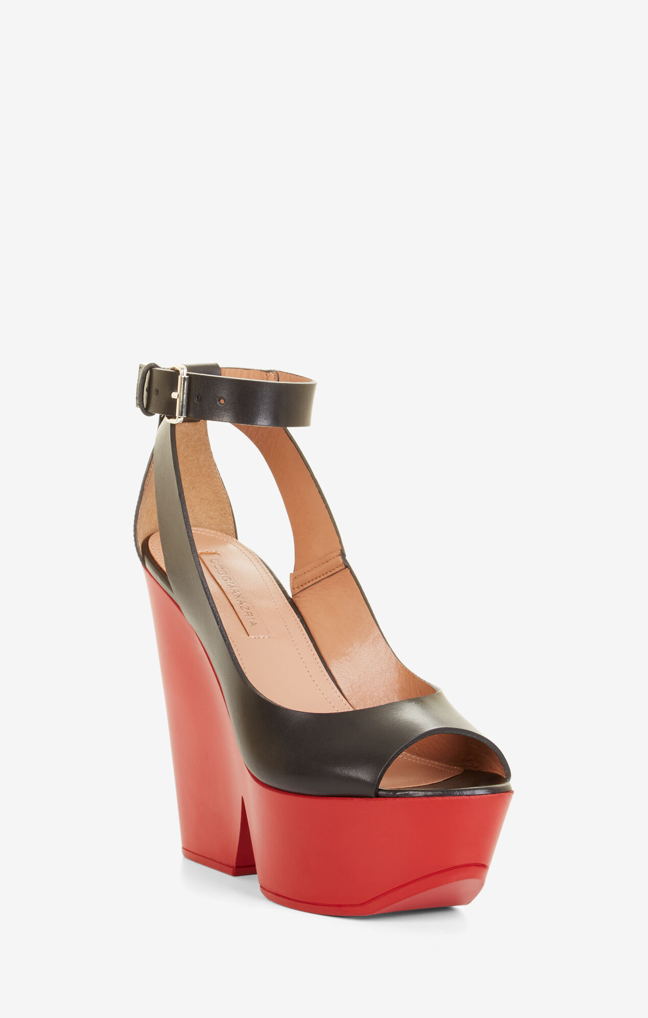 Kyara Leather Wedge Sandals