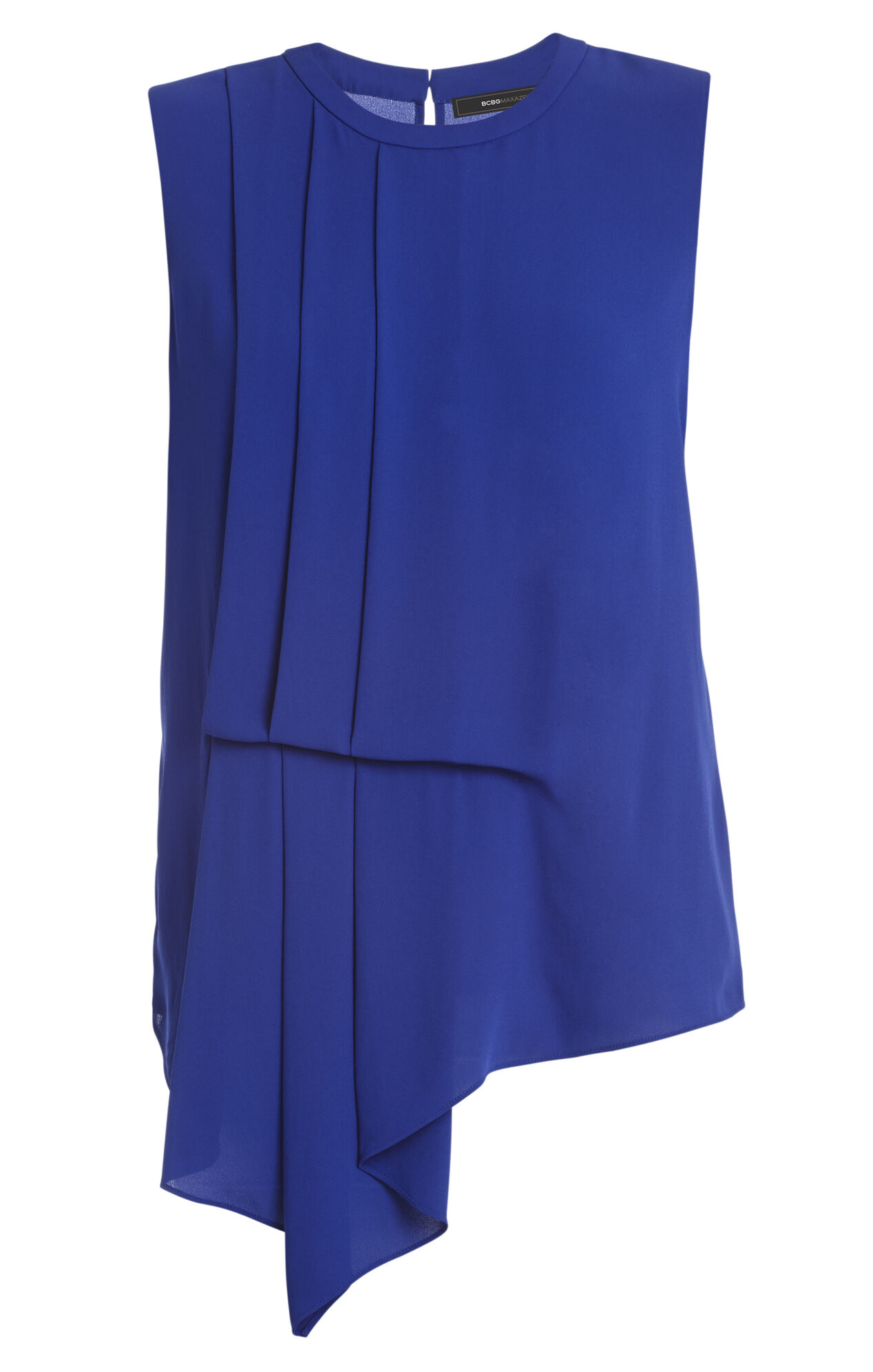 Brea Sleeveless Pleated-Side Top