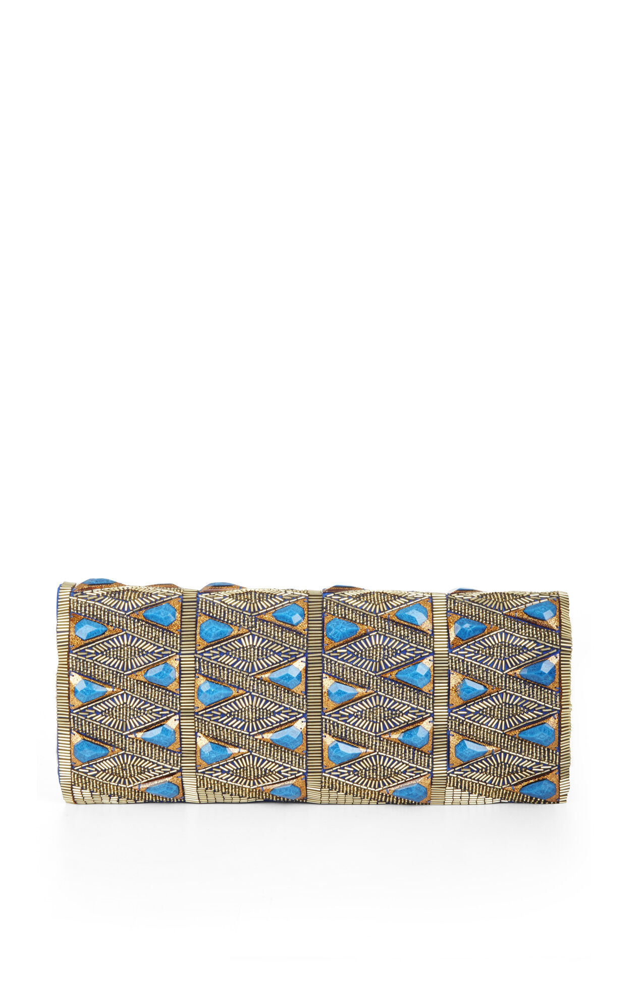 Rihanna Triangle Stone Beaded Clutch
