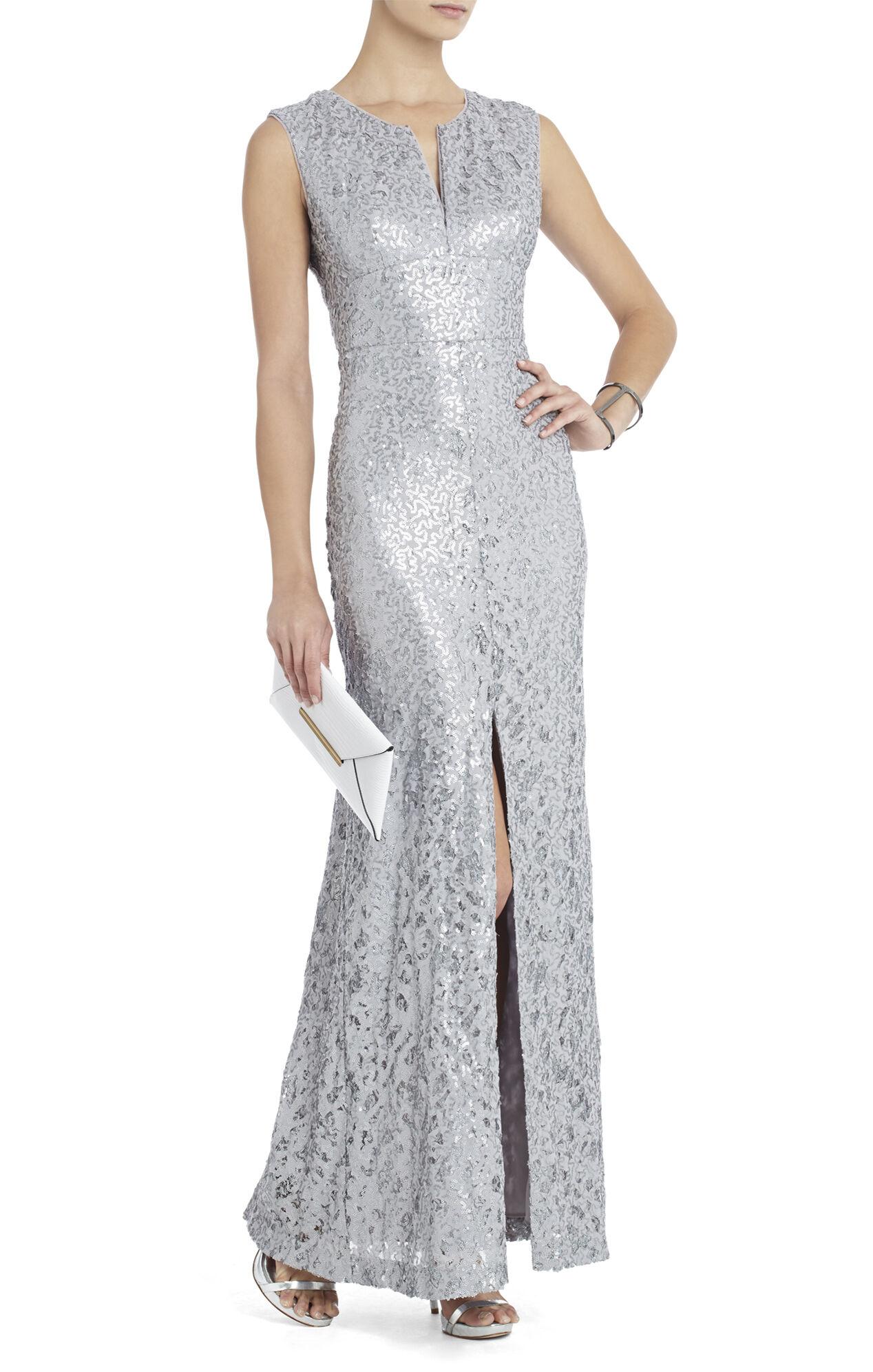Cain Sequin Applique Dress