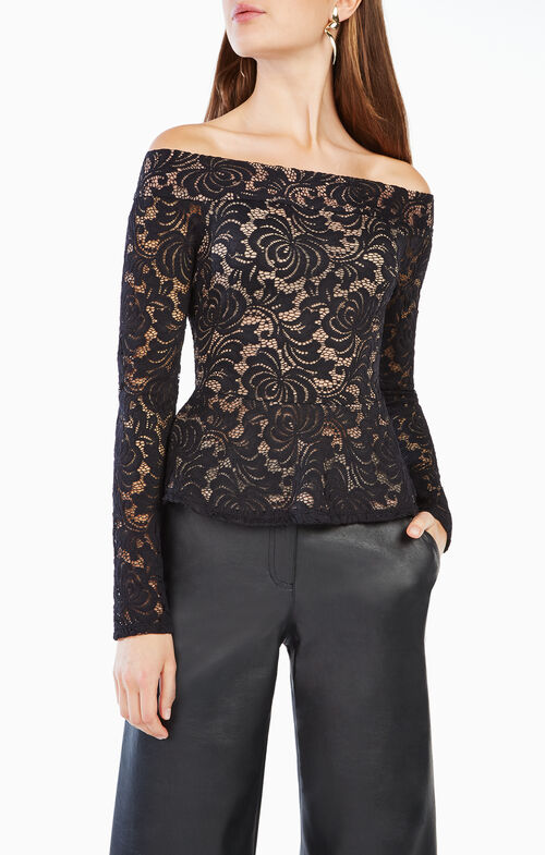 Alea Off-the-Shoulder Lace Top