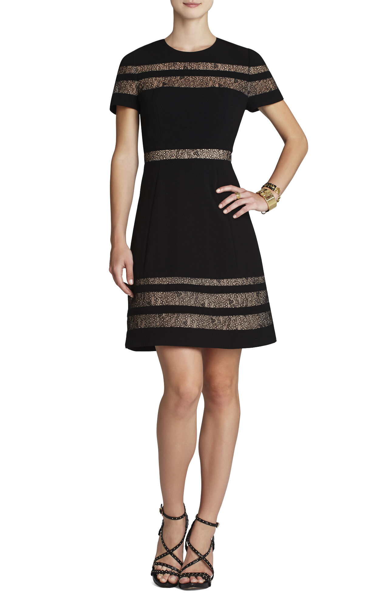 Kalli Lace-Insert Dress