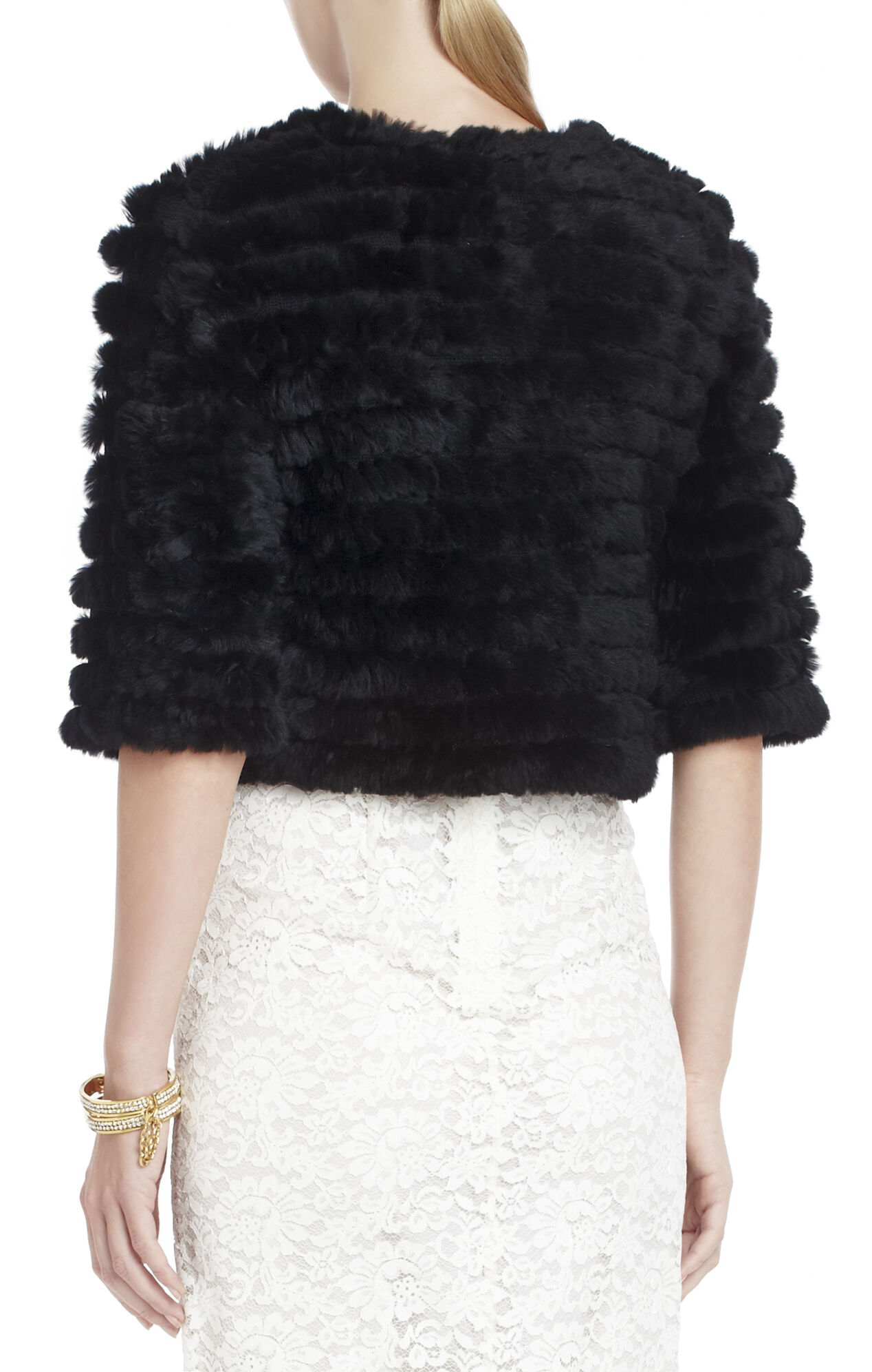 Sophiana Cropped Faux-Fur Cardigan