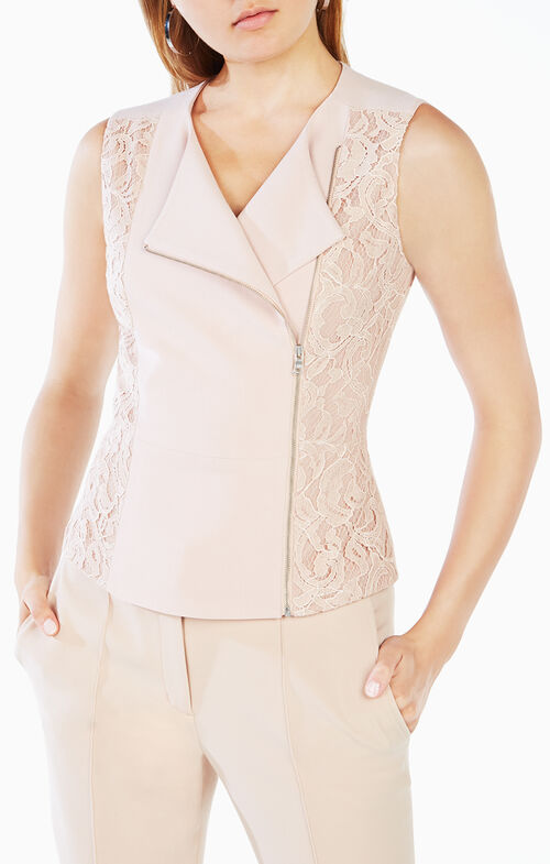 Carrie Lace Peplum Top