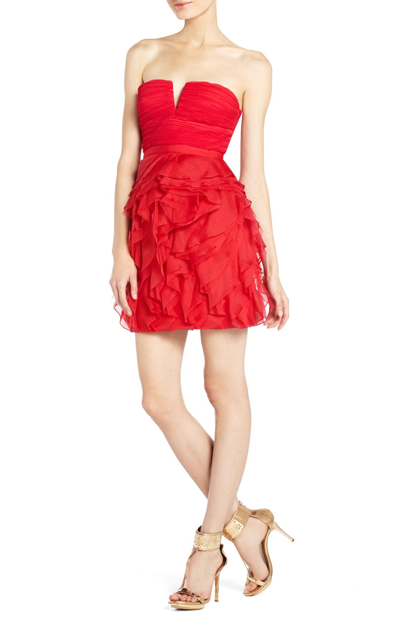 Cicilly Ruffled Evening Dress