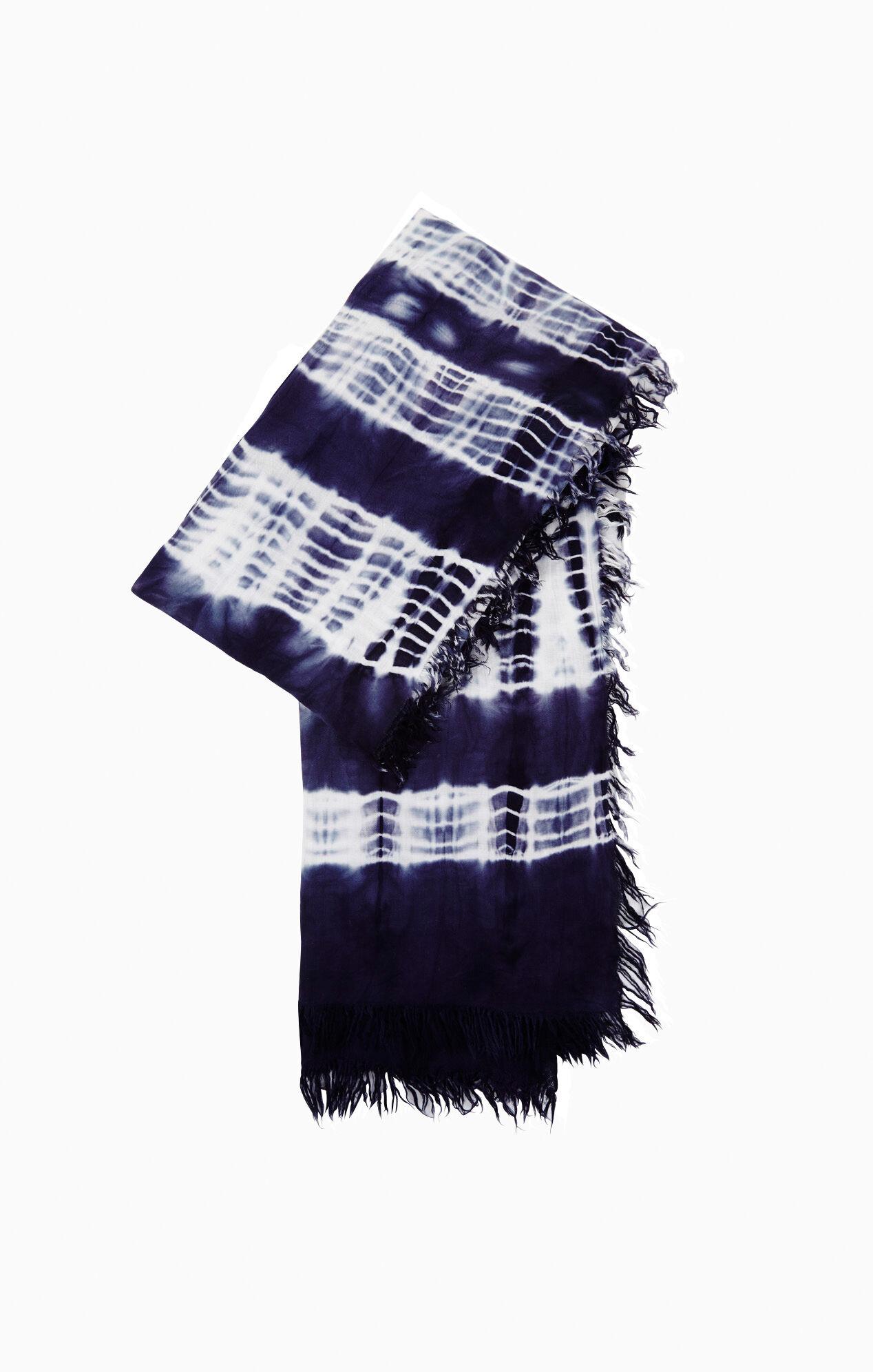 Stripe Tie-Dye Scarf