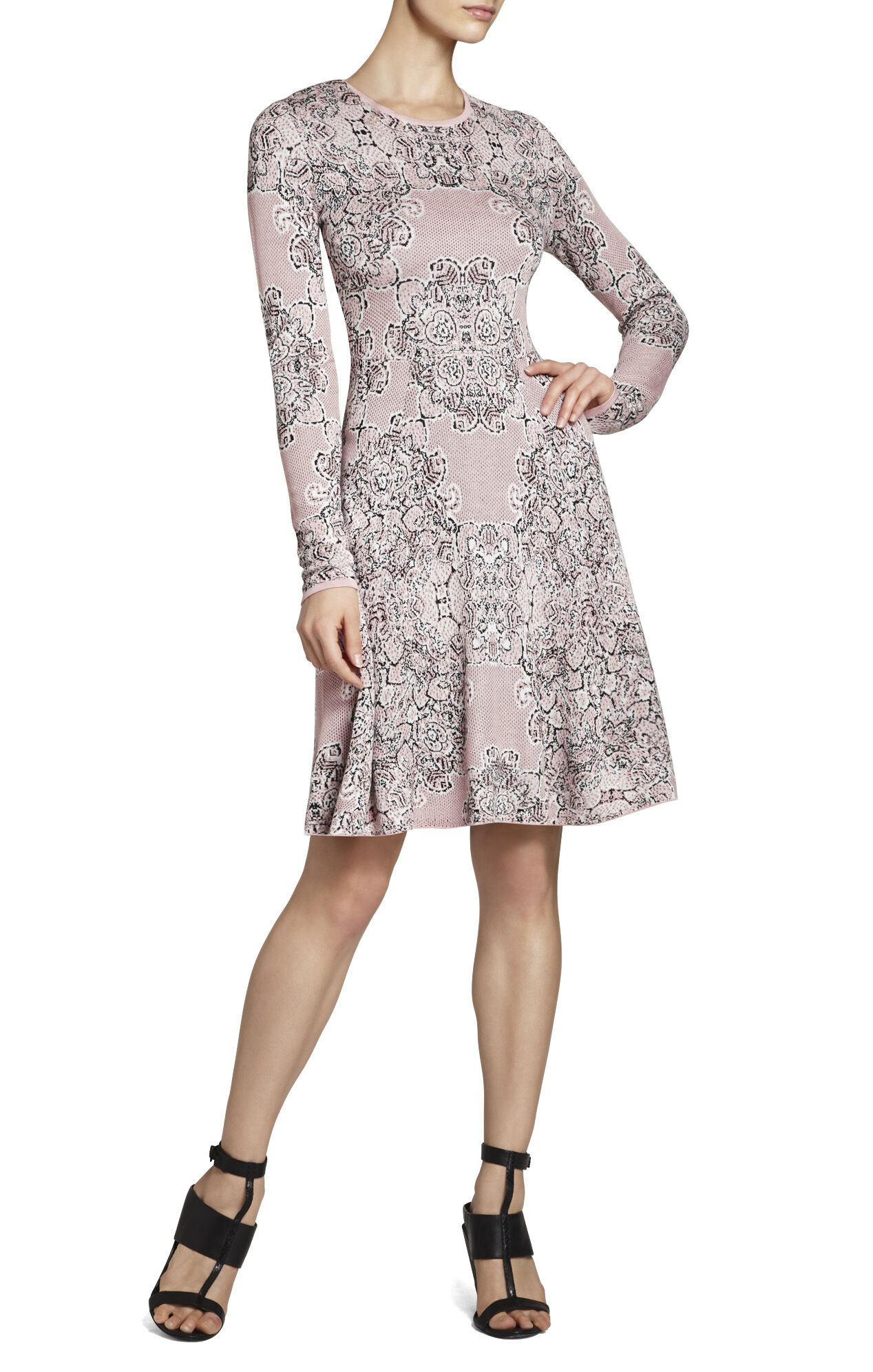 Julia Western Floral-Jacquard Dress