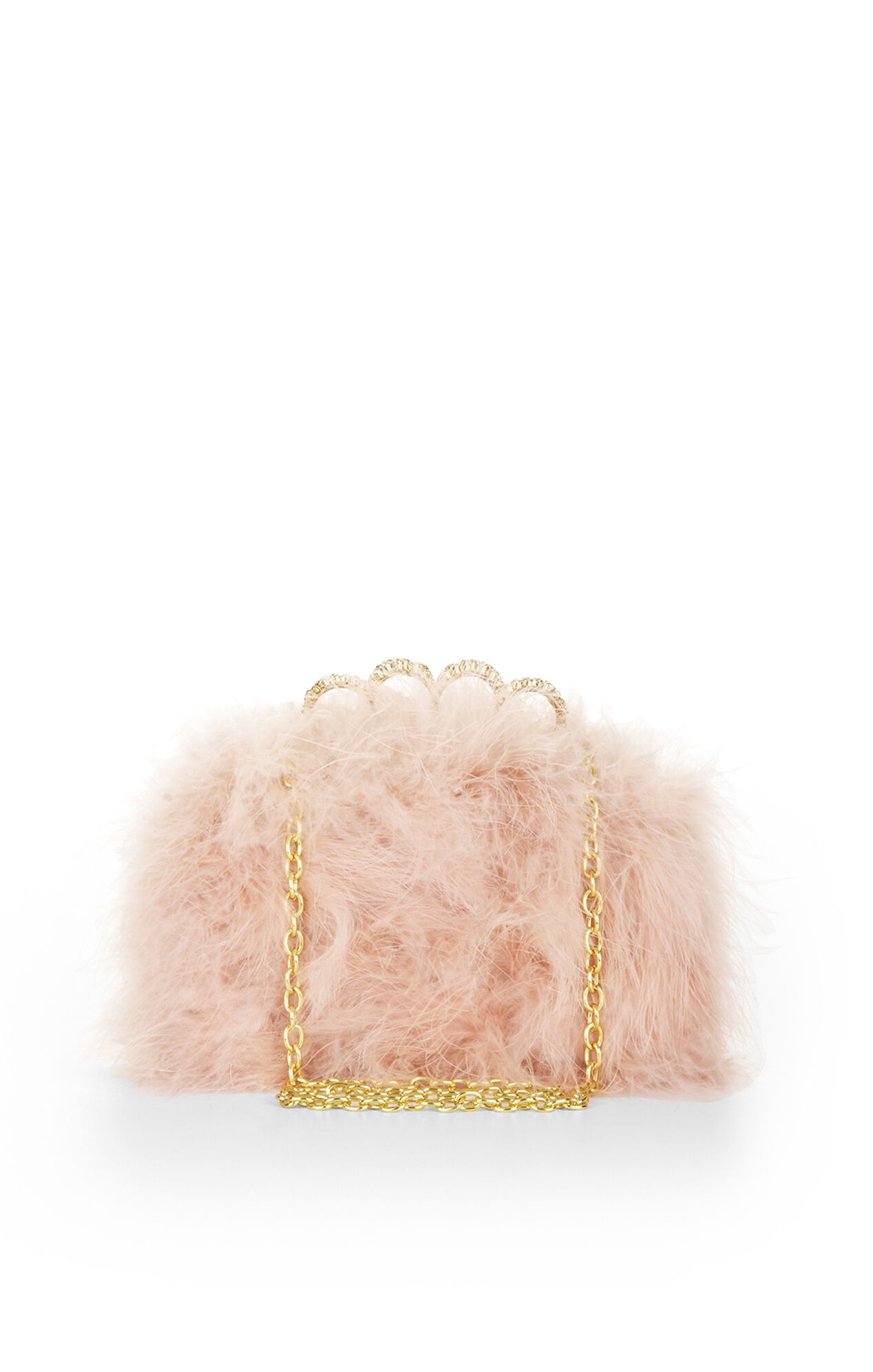 Quinn Feather Clutch