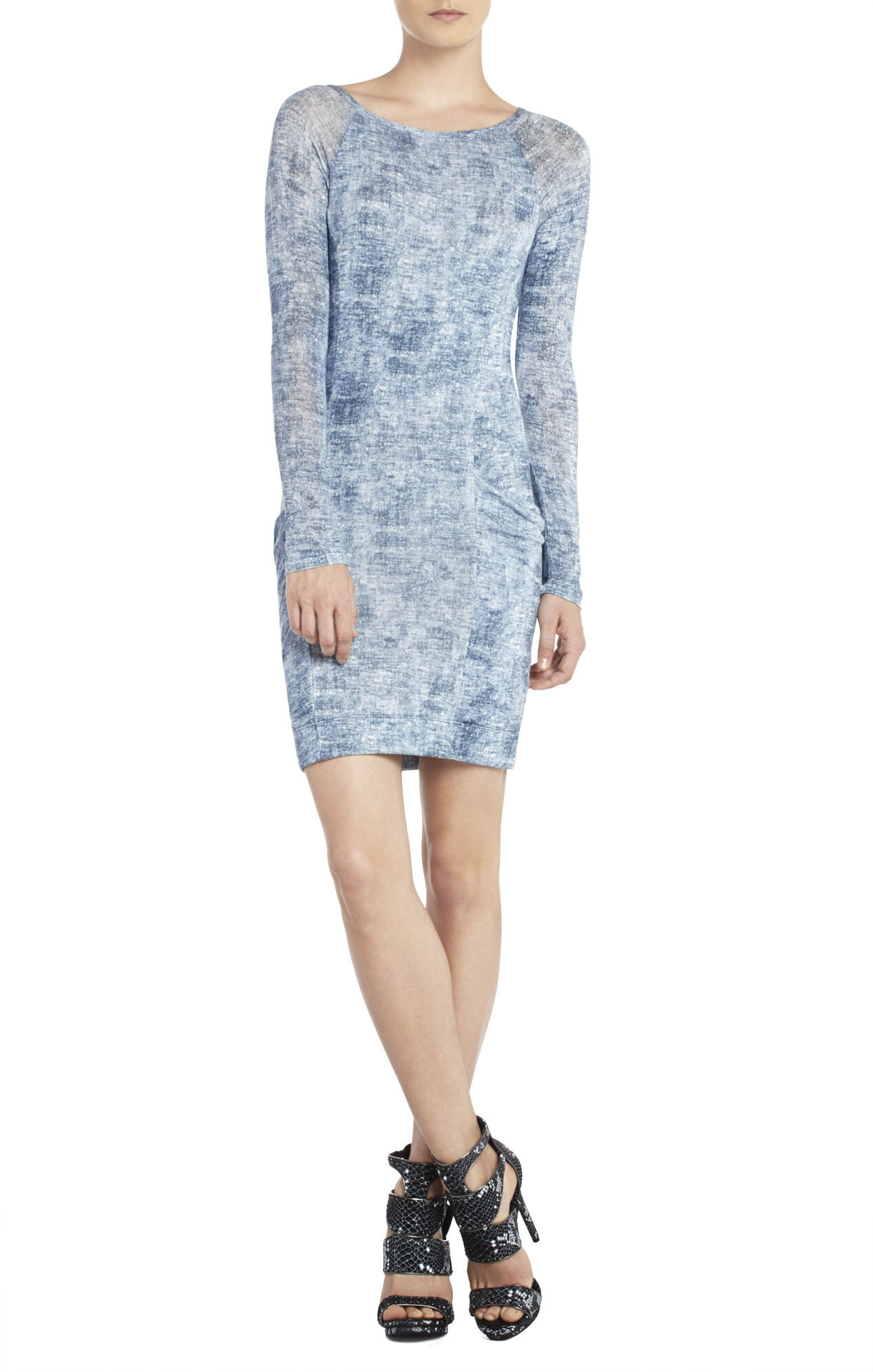 Crista Raglan-Sleeve Tunic Dress