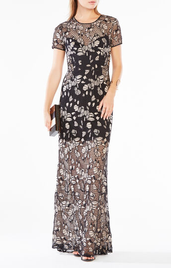 Alexus Embroidered Lace Gown