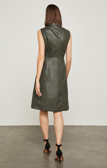 Allexandria Faux-Leather Dress