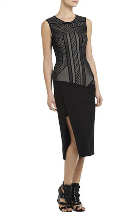 Cassie Geometric Relief Jacquard Top