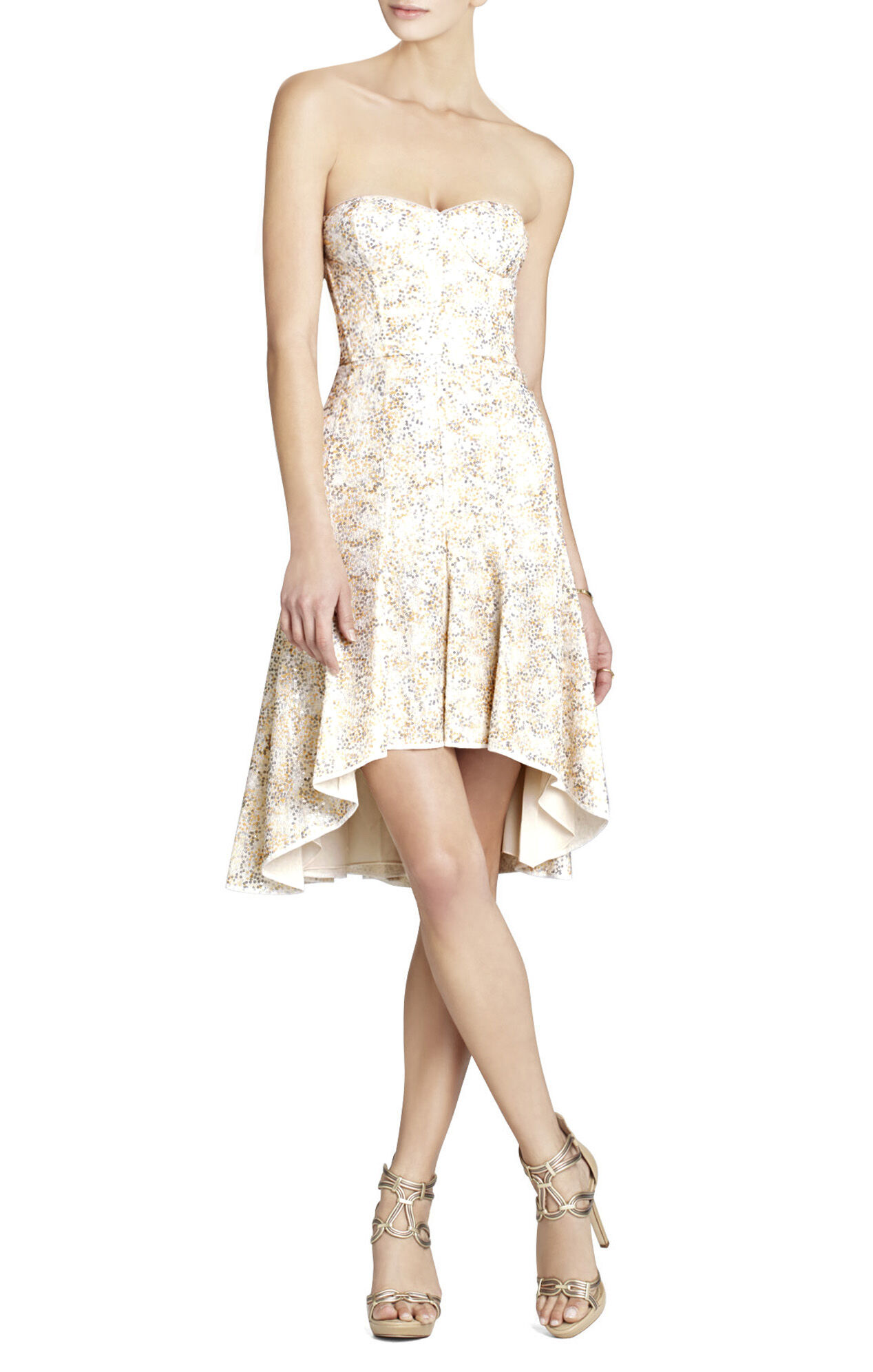 Bryleigh Strapless Sequined Lace Dress