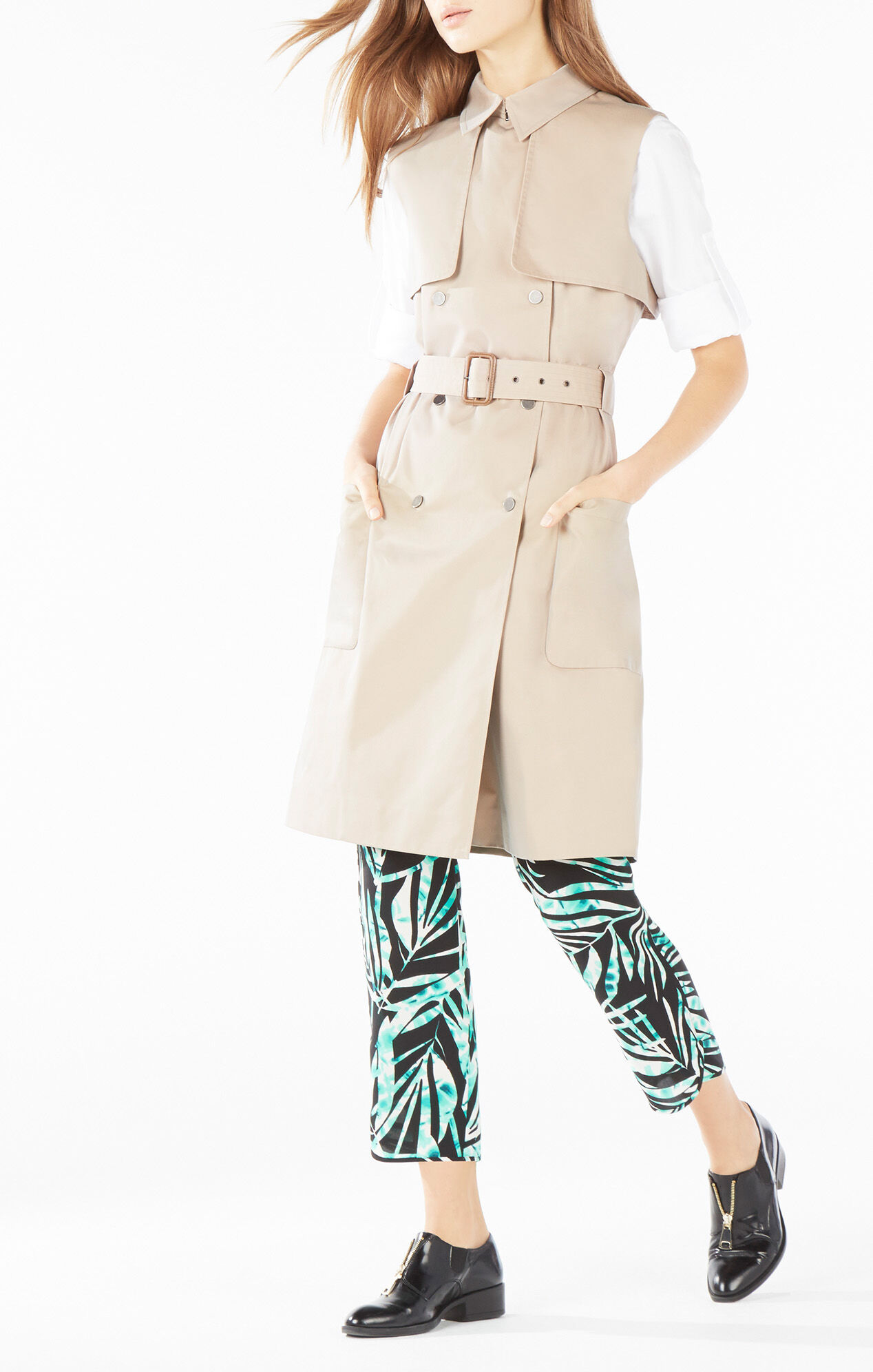 Lenard Double-Breasted Trench Vest