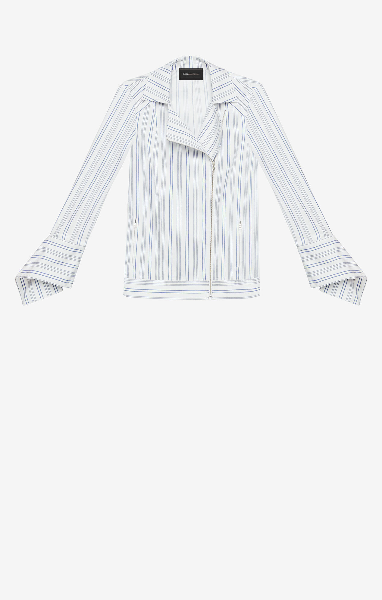 Dean Striped Moto Jacket