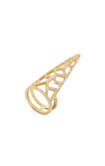Pave Stone Cutout Ring