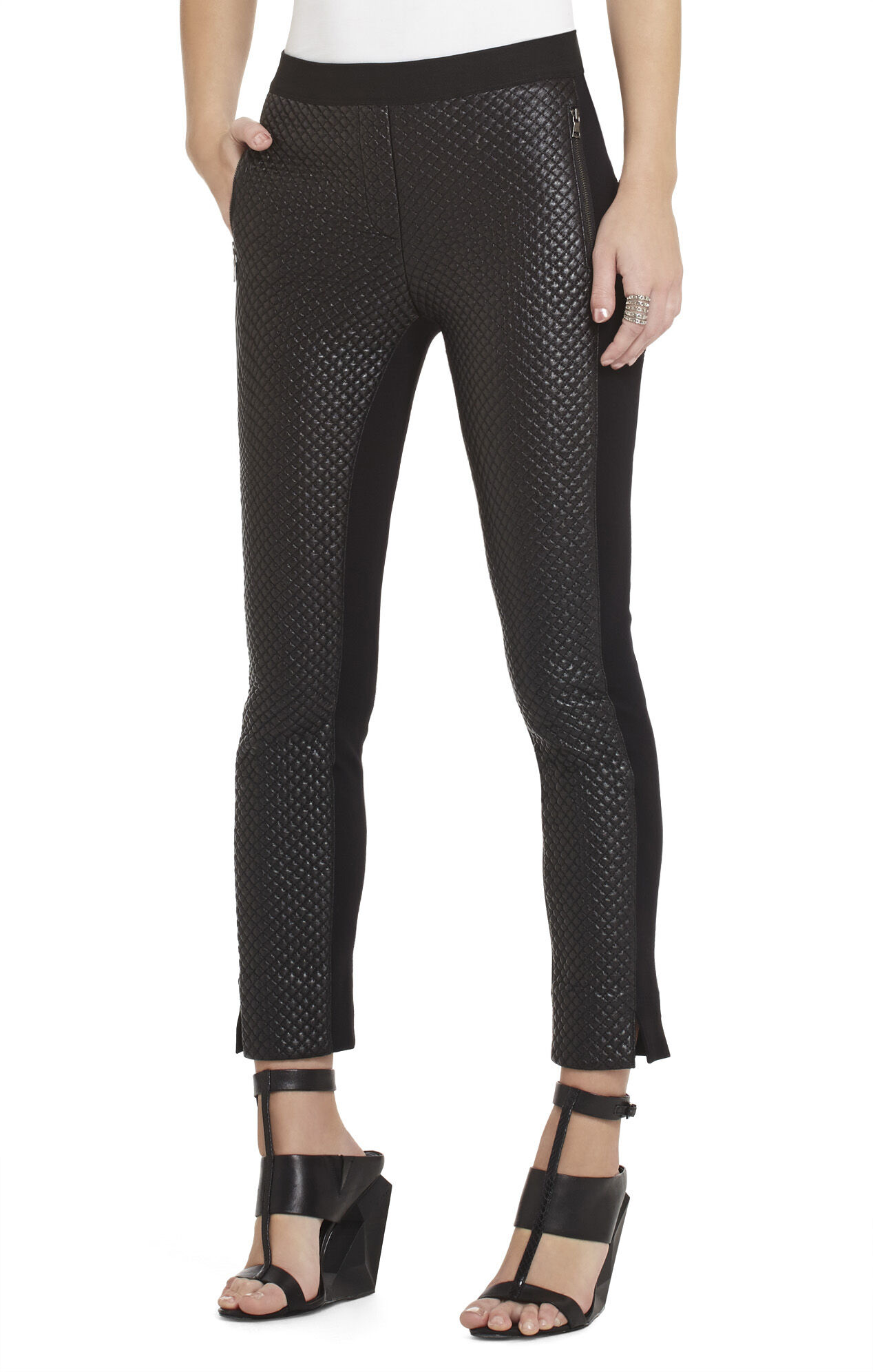 Caiden Quilted Pleather Pant